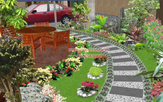 Thi công tiểu cảnh sân vườn nhà phố - Ảnh 4