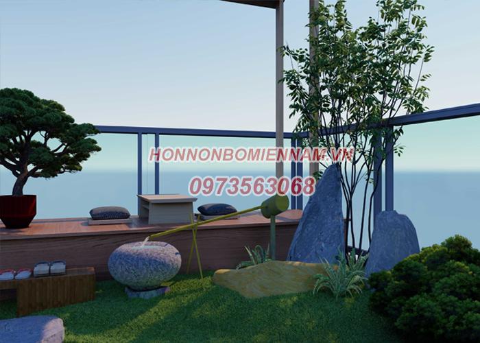 Thiết kế sân vườn tiểu cảnh trên sân thượng - Ảnh 3