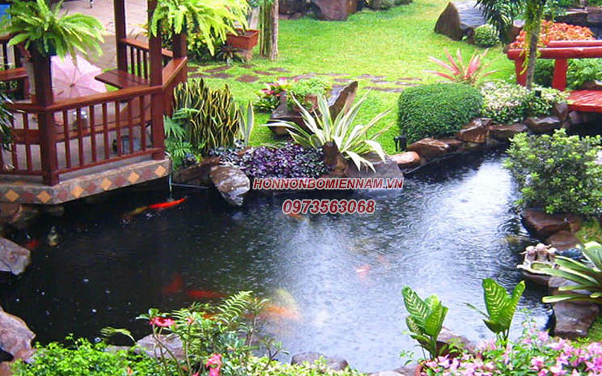 Thiết kế thi công hồ cá koi tại Tây Ninh. Ảnh: 3