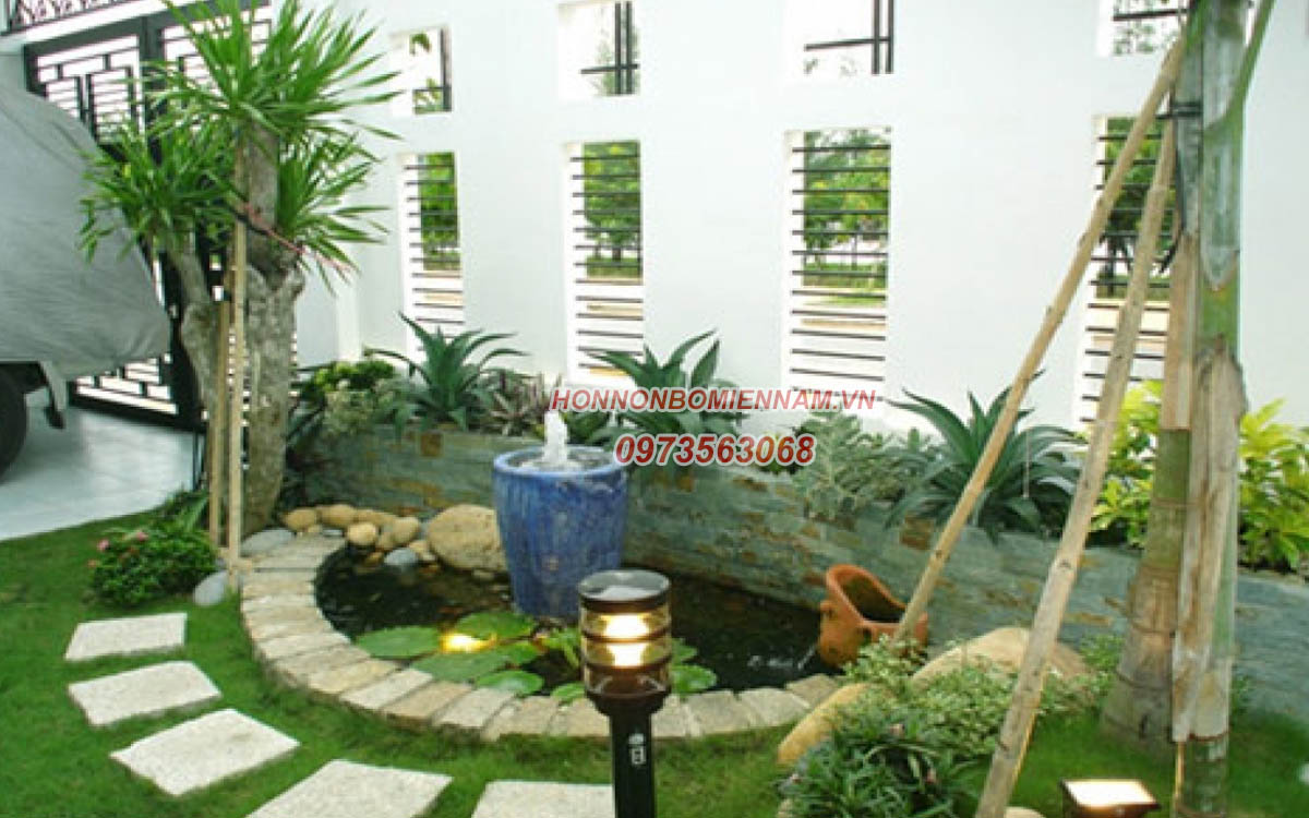 Thiết kế thi công tiểu cảnh sân vườn tại Bình Phước. Ảnh: 4