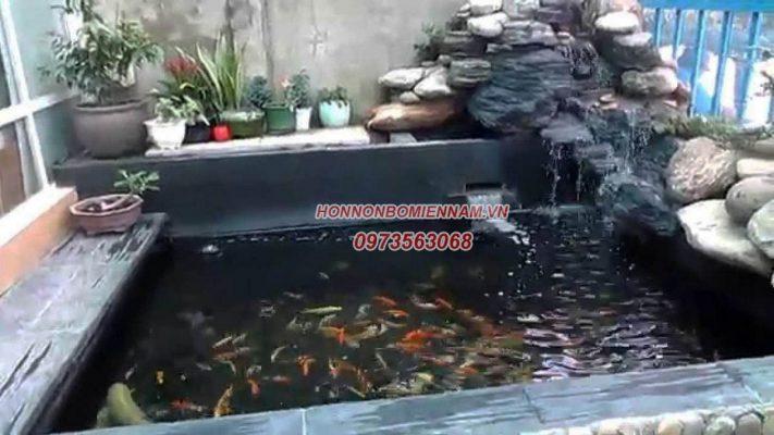 Thiết kế thi công hồ cá koi tại Tiền Giang. Ảnh 3