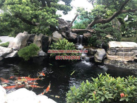 Thiết kế thi công hồ cá koi tại Đà Lạt - Lâm Đồng