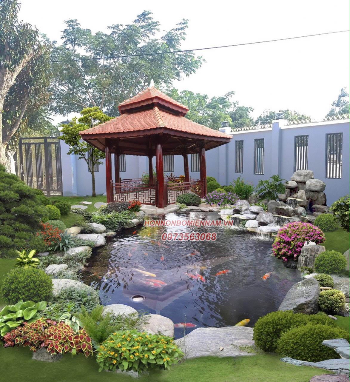 Thiết kế thi công hồ cá koi tại Long Xuyên - An Giang