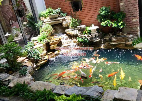 Thiết kế thi công hồ cá koi đẹp tại quận 12