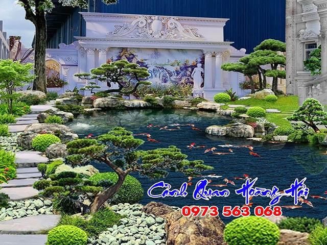 hồ cá koi biệt thự Royal HCM - Cảnh Quan Hoàng Hải