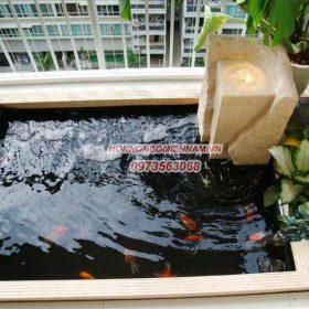 Thiết kế thi công hồ cá koi vuông