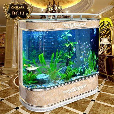 Bể cá thủy sinh có viền gỗ