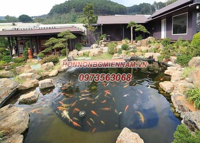 Thiết kế thi công hồ cá koi tại Trà Vinh. Ảnh 3