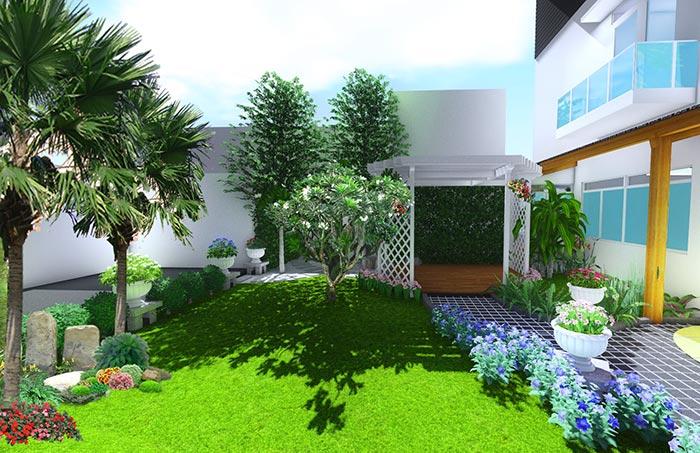 Cây cối cung cấp khoảng không gian thoáng mát cho môi nhà