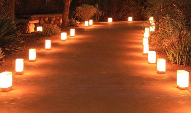 đèn theo đường thẳng