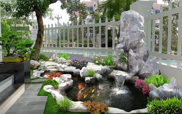 Hồ cá koi sân vườn đẹp 5